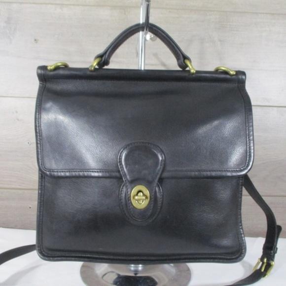 coach bags 9927 black leather willis station bag poshmark rh poshmark com